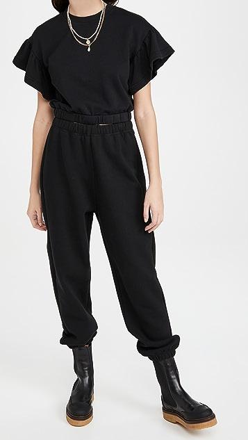 alice + olivia Joline Ruffle Crop Sweatshirt