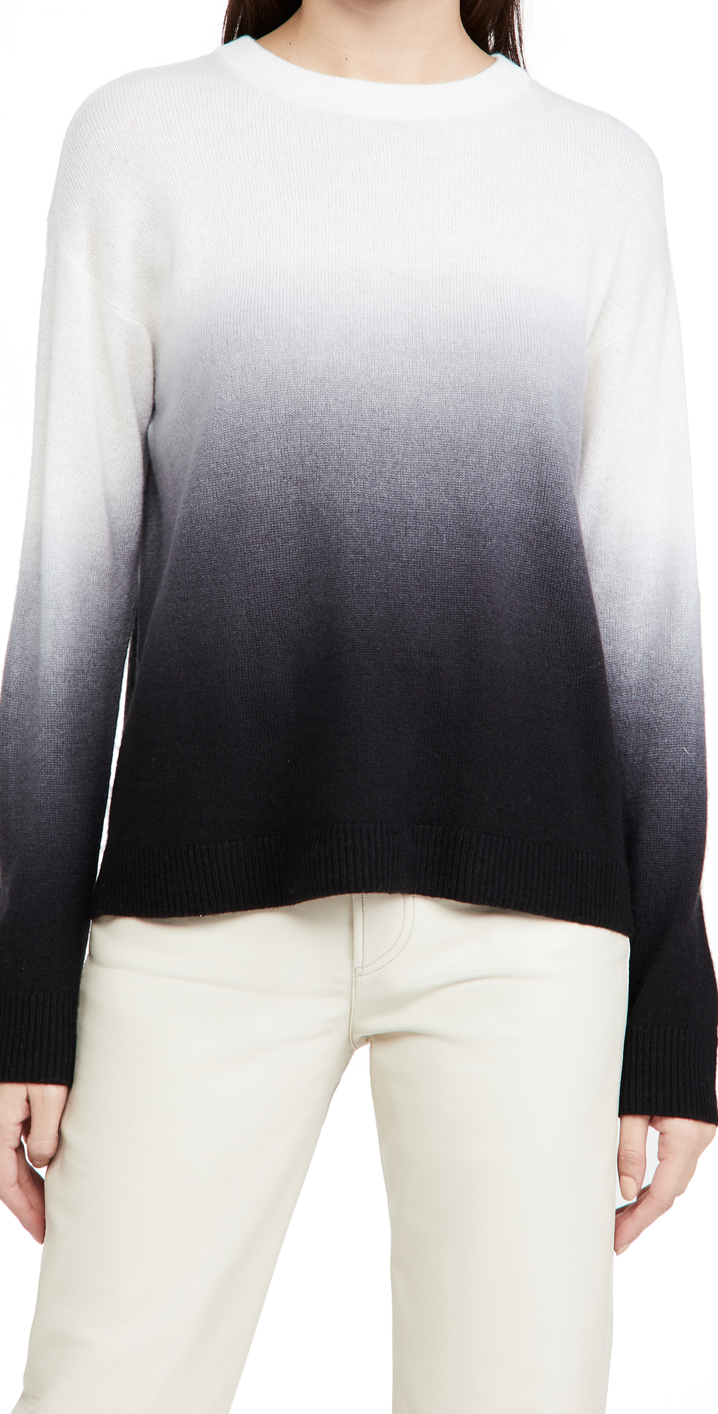 alice + olivia Gleeson Dip Dye Pullover Cashmere Sweater