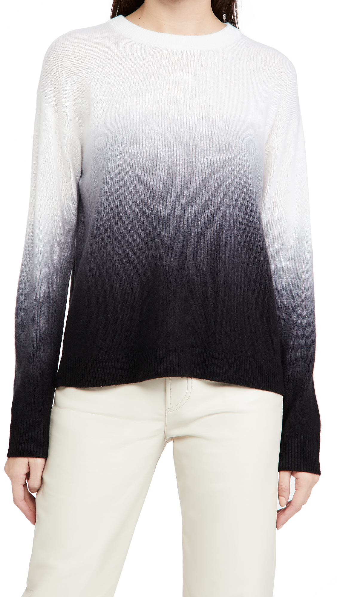 alice + olivia Gleeson Dip Dye Pullover Cashmere Sweater