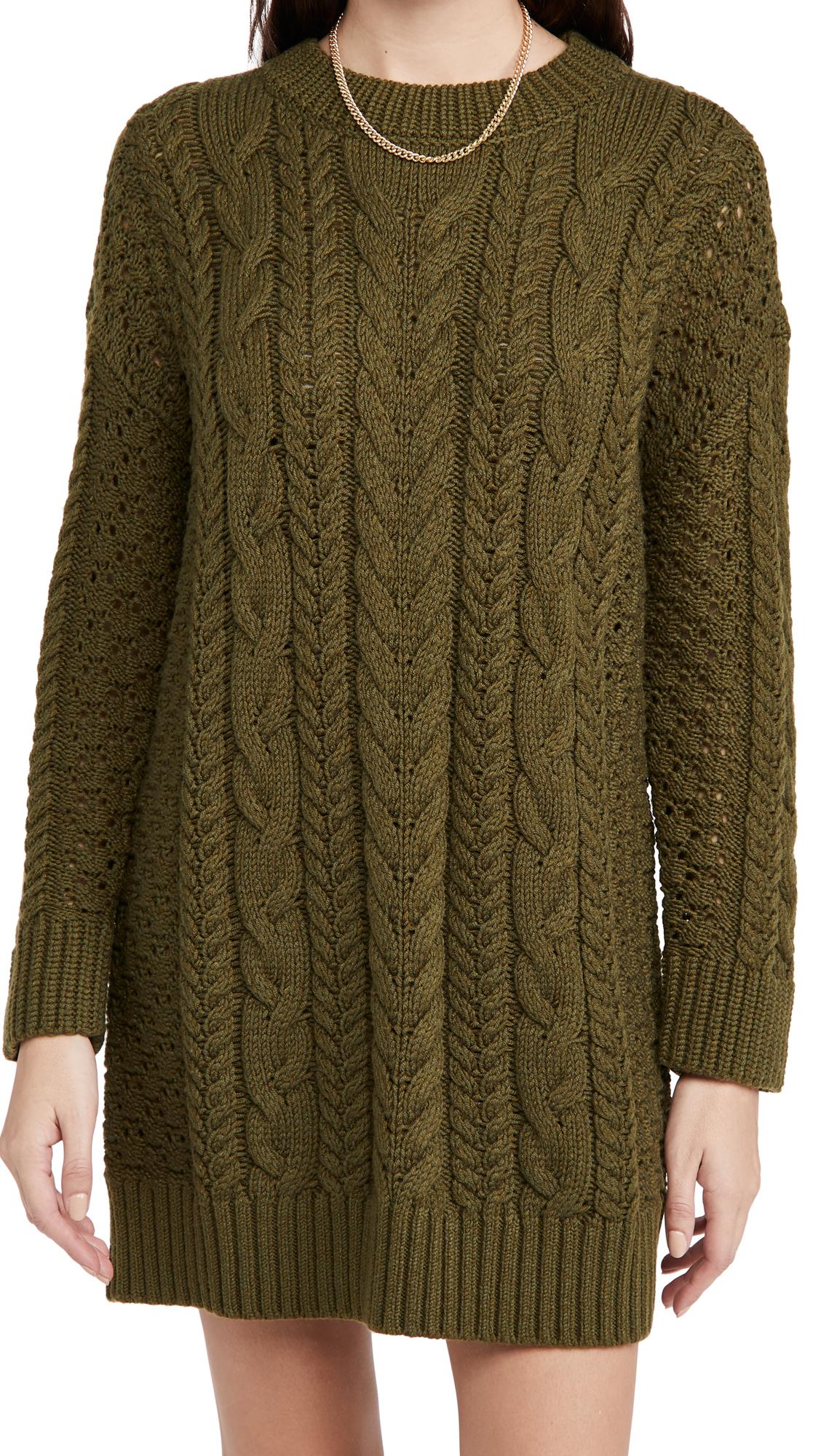 alice + olivia Lennie Cable Mini Dress