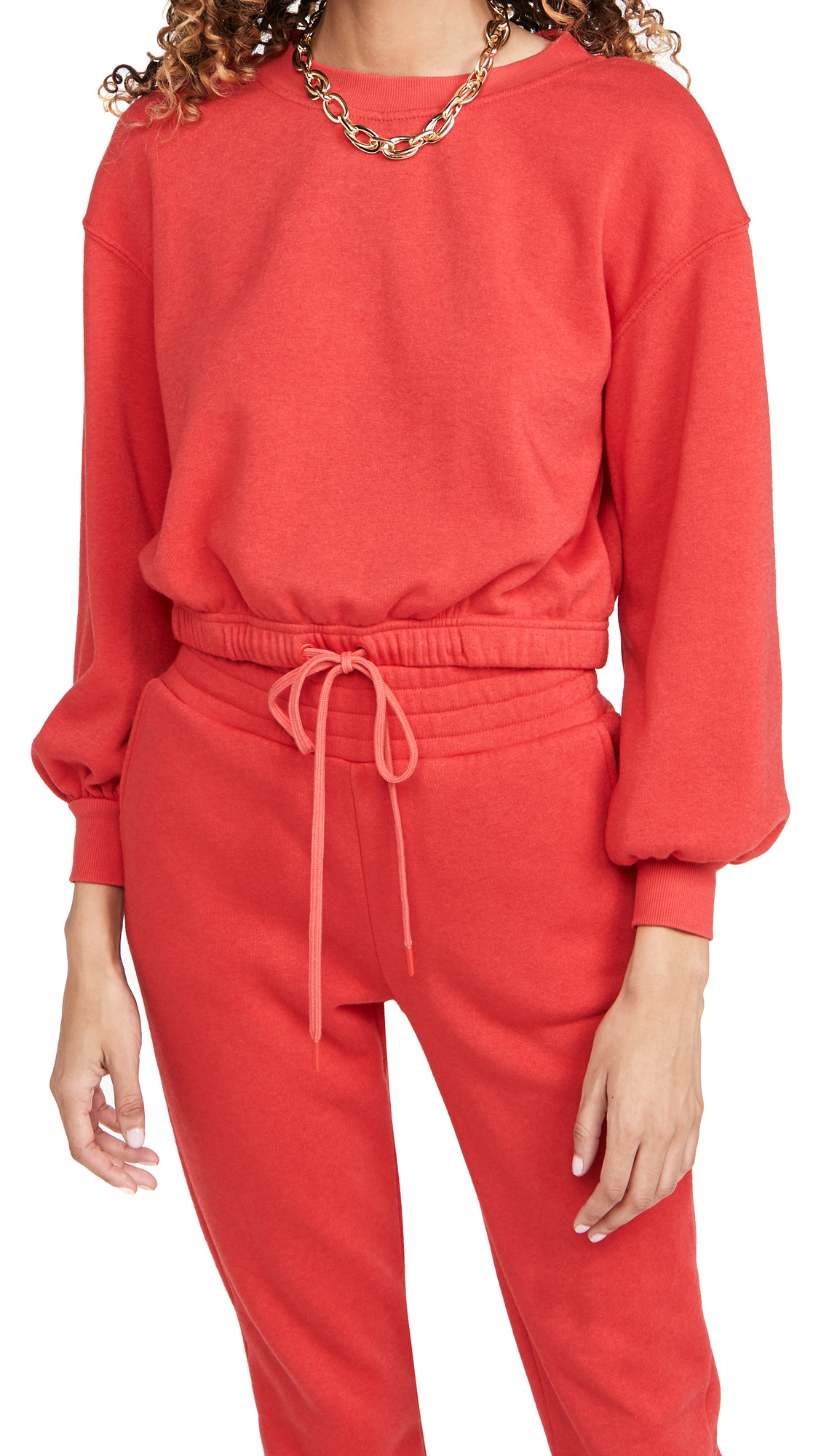 Alice And Olivia Cottons BERNETTA PULLOVER WITH DRAWSTRING