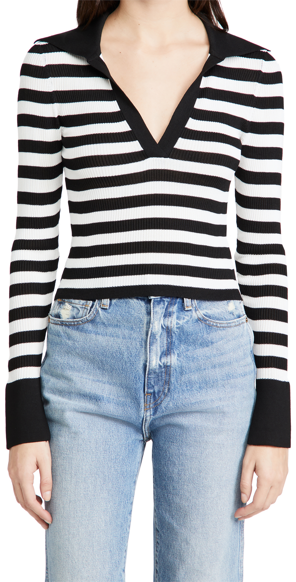 alice + olivia Daralee Fitted Polo Pullover