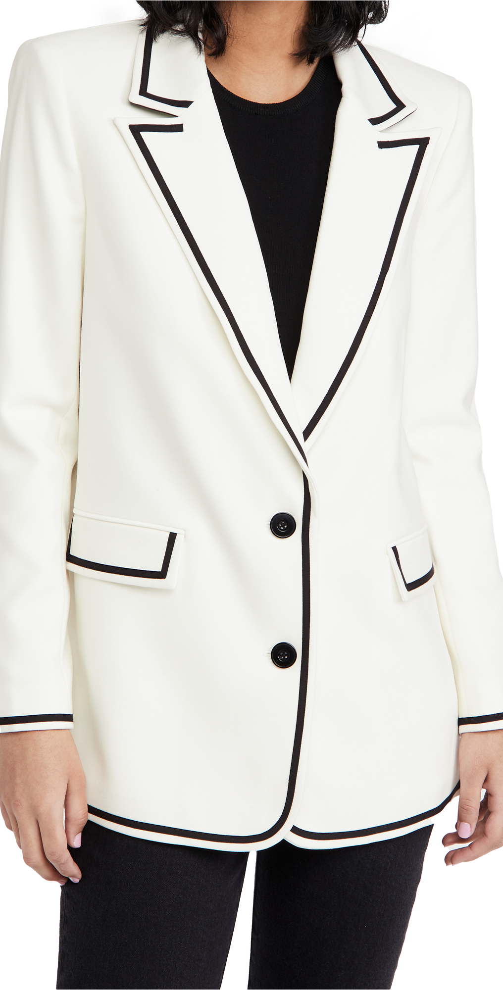 alice + olivia Elna Long Blazer