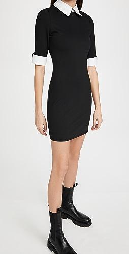 alice + olivia - Delora 贴合衣领连衣裙