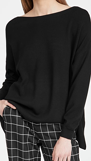 alice + olivia Oliva Drop Shoulder Tie Back Sweater