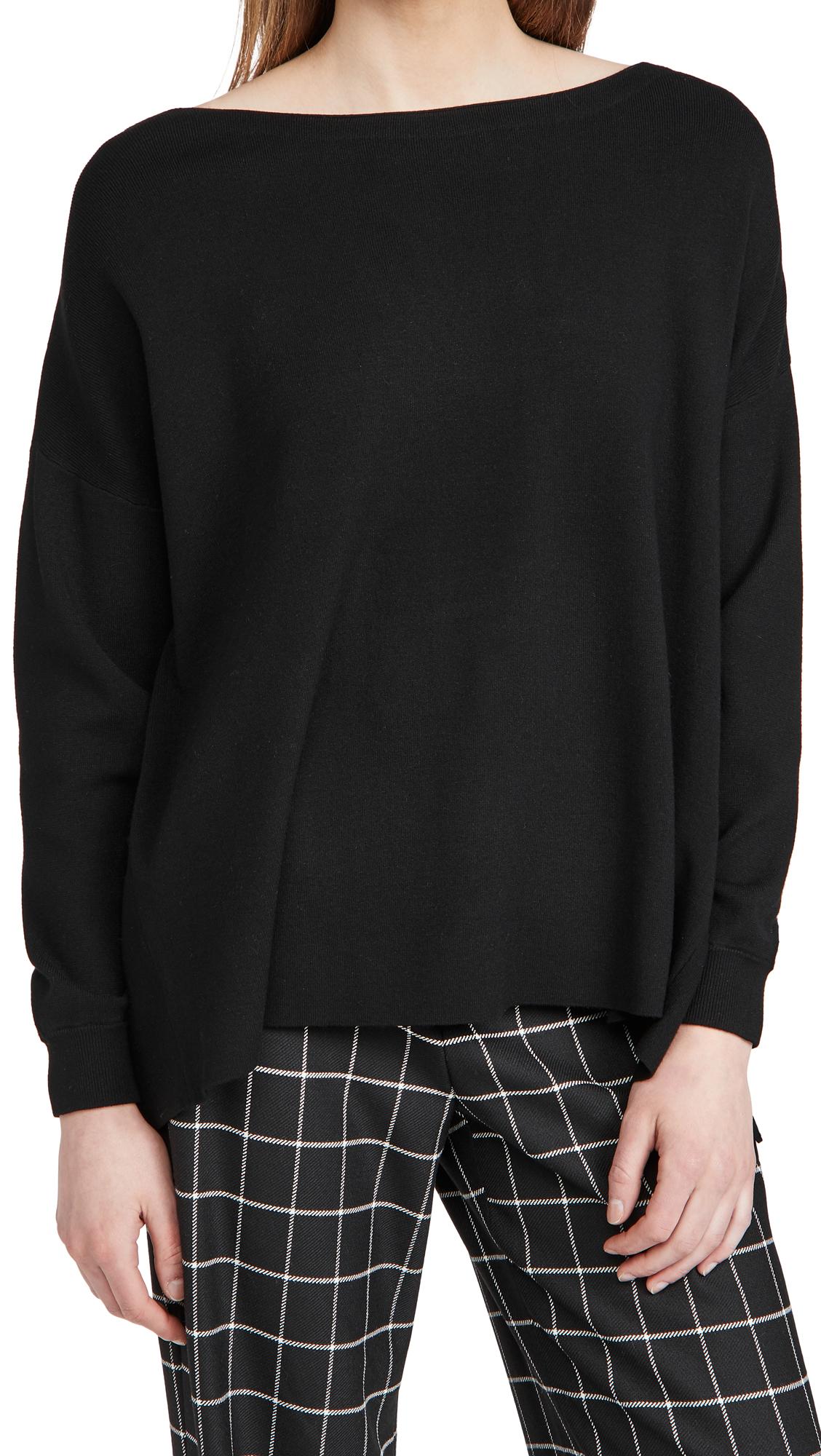 alice + olivia Oliva Drop Shoulder Tie Back Sweater
