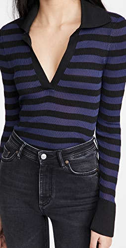 alice + olivia - Daralee Fitted Polo Pullover