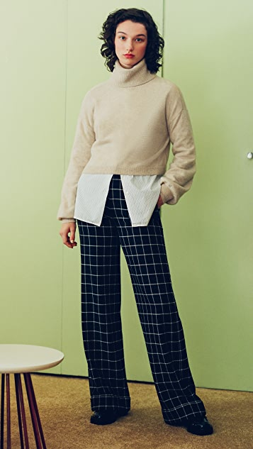 alice + olivia Dylan 高腰翻边裤子