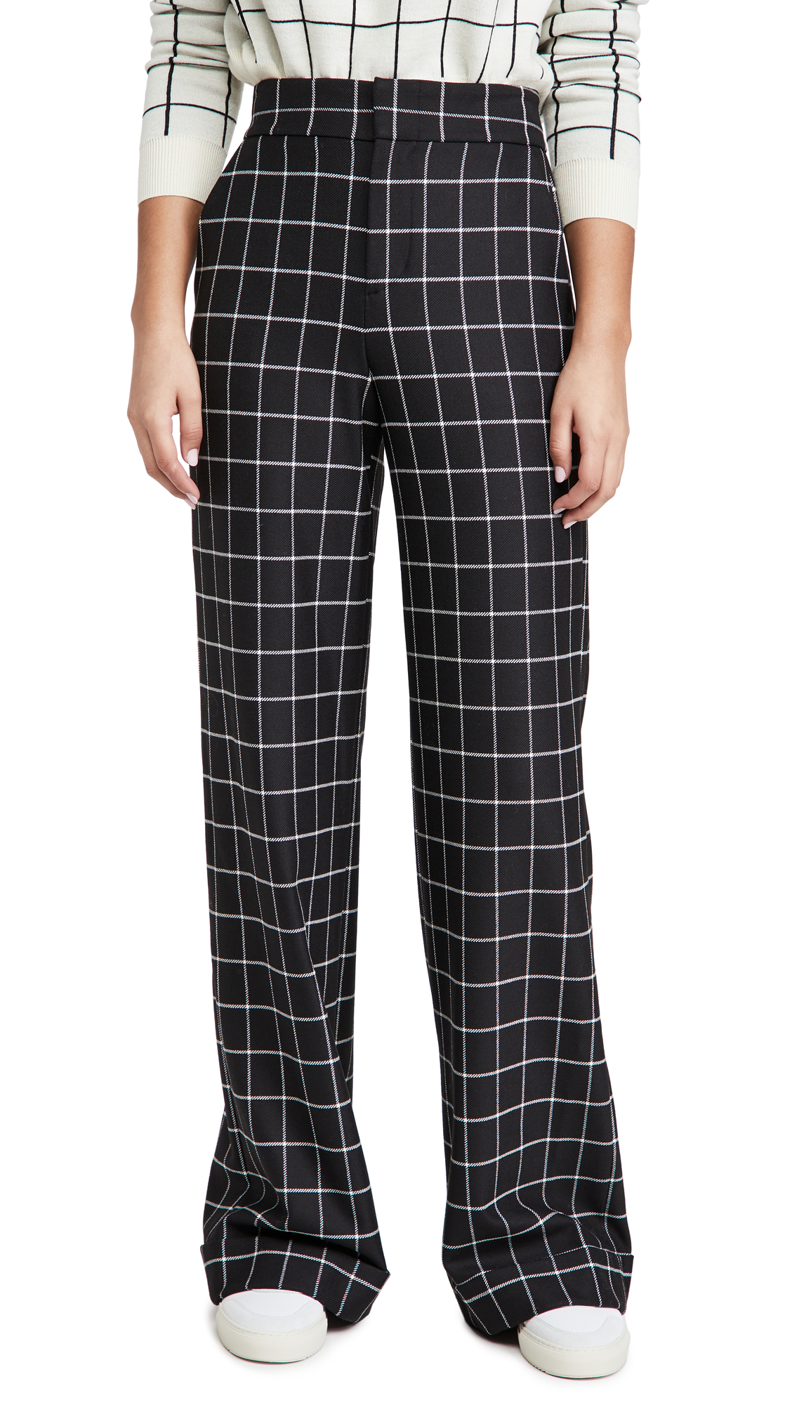 alice + olivia Dylan High Waist Cuff Pants