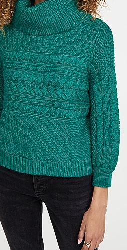 alice + olivia - Francine Cable Knit Turtleneck