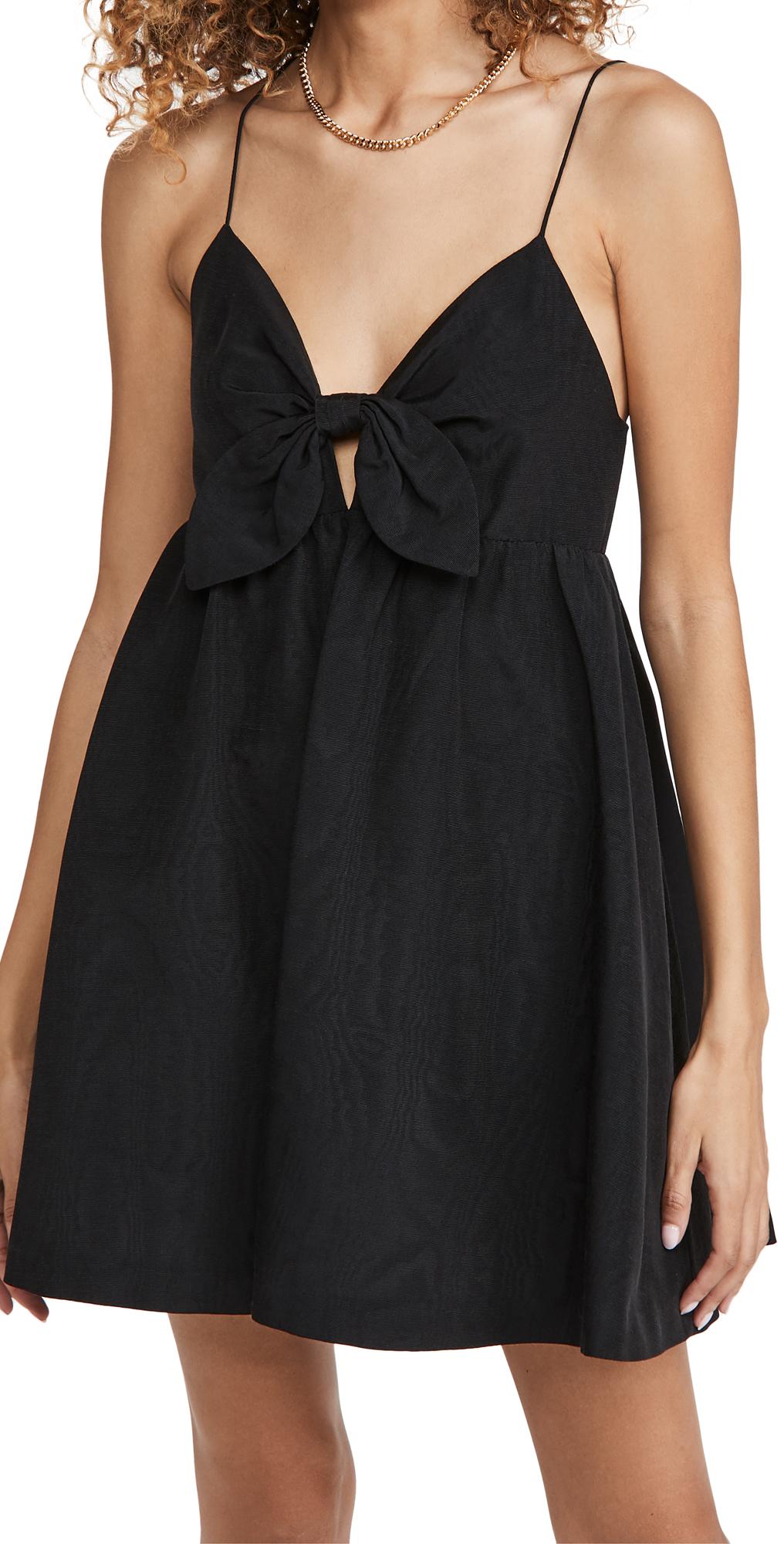 alice + olivia Melvina Tie Gathered Babydoll Dress
