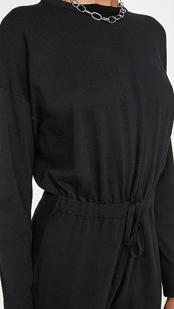alice + olivia Nikita 束带腰部针织连身衣