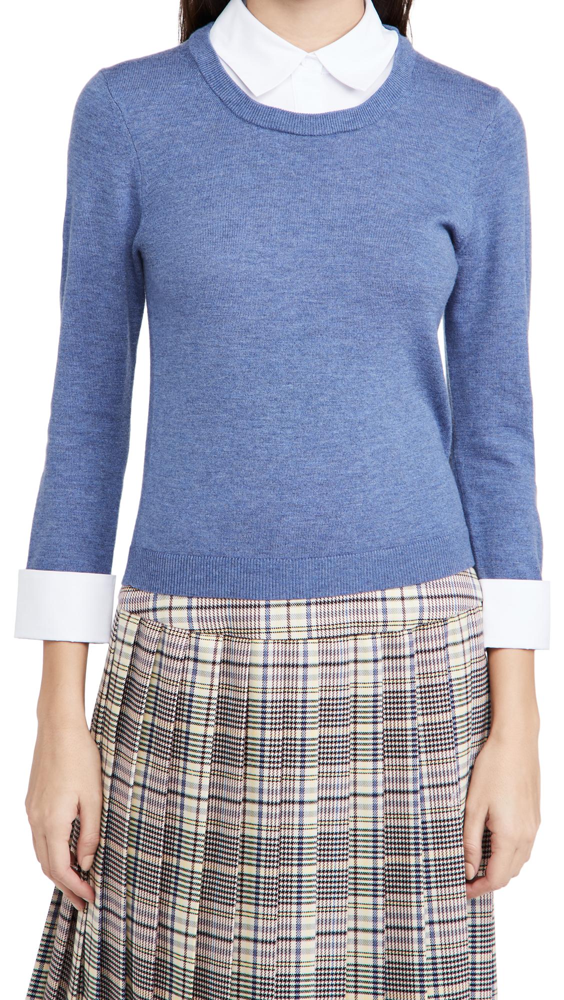 alice + olivia Porla 3/4 Sleeve Collared Sweater