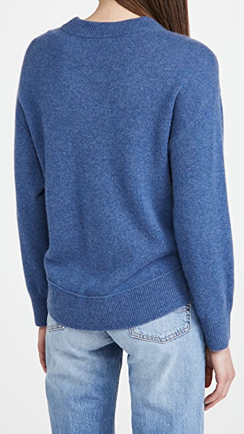 alice + olivia Denver Round Hem Cashmere Sweater