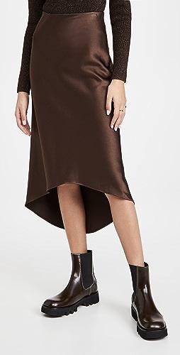 alice + olivia - Maeve High Low Slip Skirt