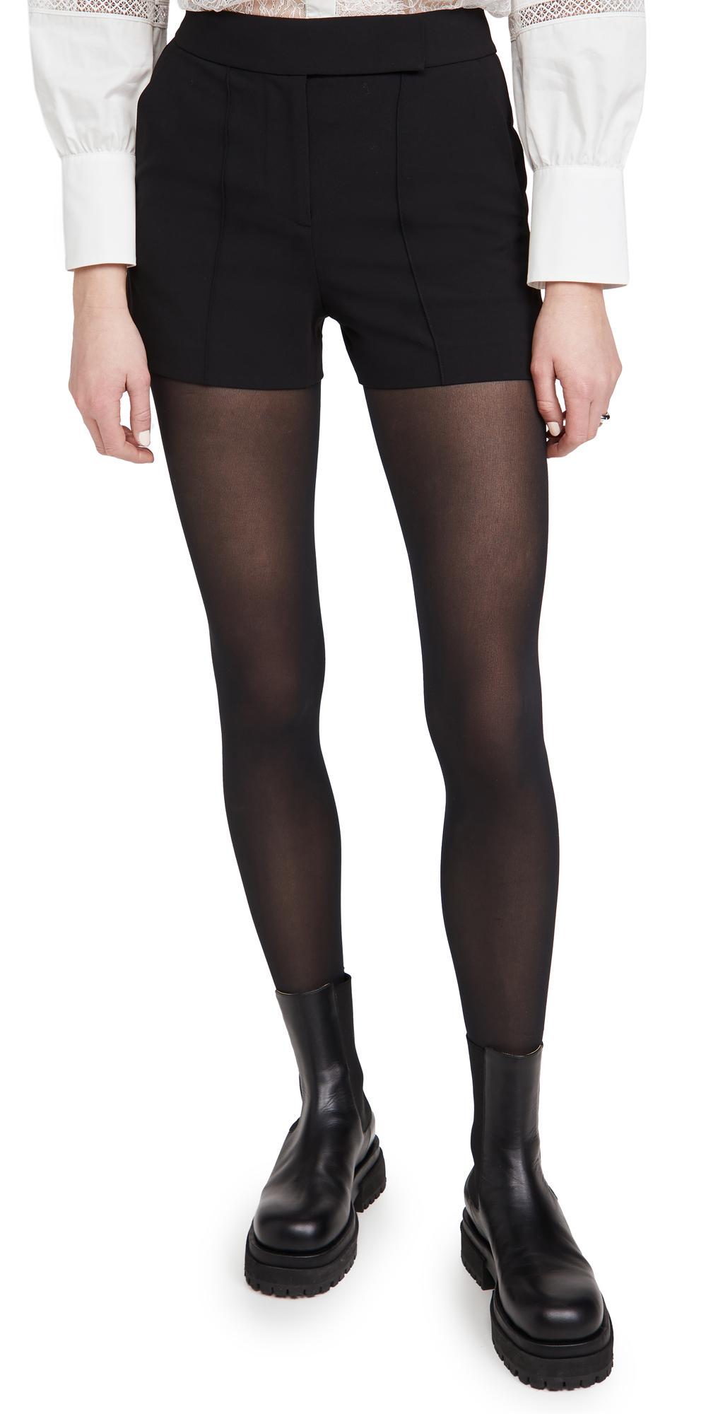 alice + olivia Dylan High Waist Tab Pintuck Shorts