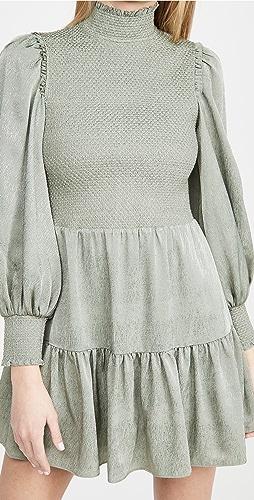 alice + olivia - Elvira 抽褶衣身层褶连衣裙