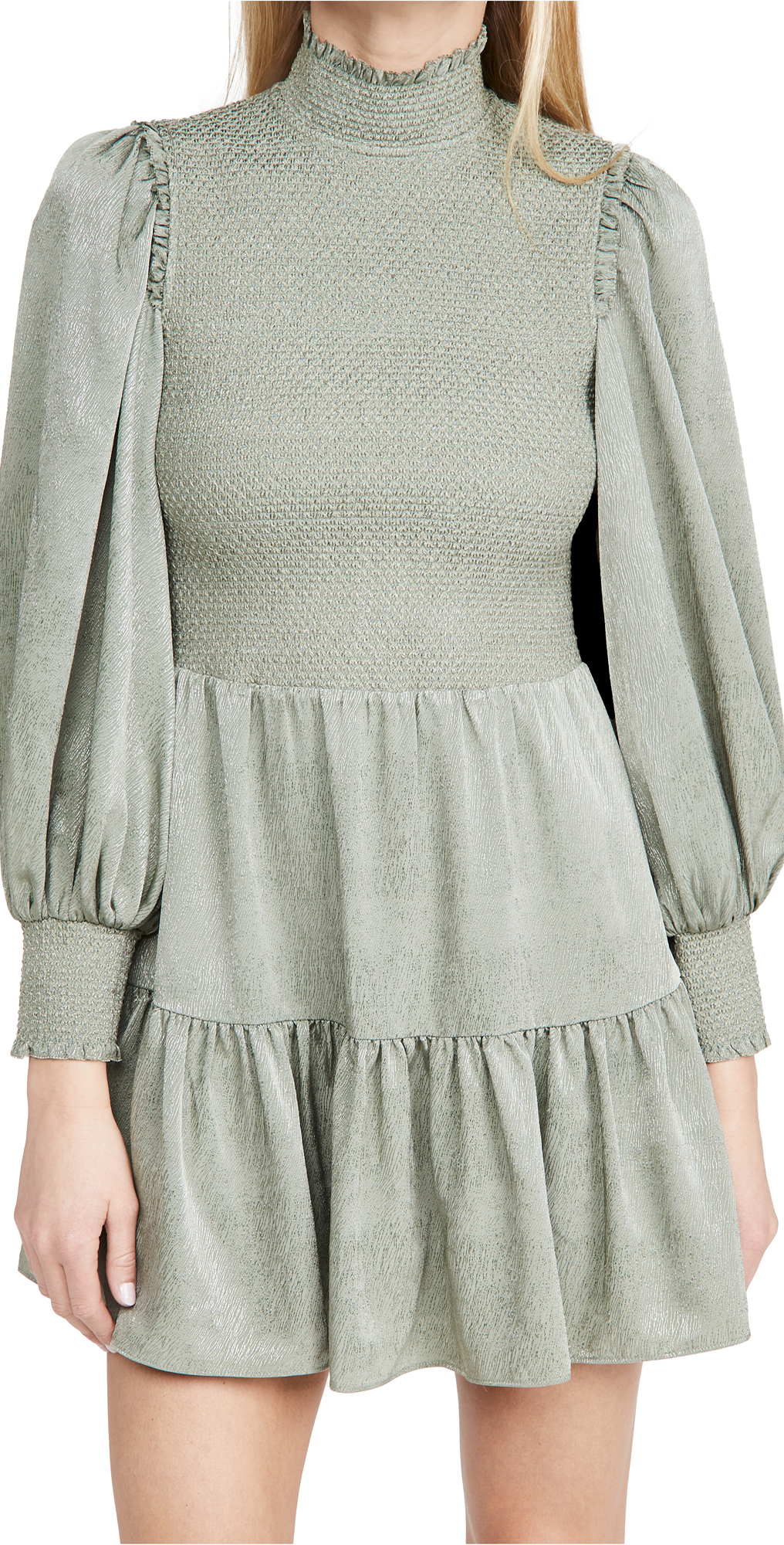 alice + olivia Elvira Smocked Bodice Tiered Dress