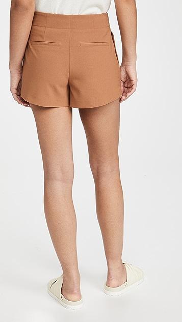 alice + olivia Adelina Tag Belt Pleated Shorts