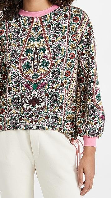 alice + olivia Amirah Drawstring Hem Sweatshirt