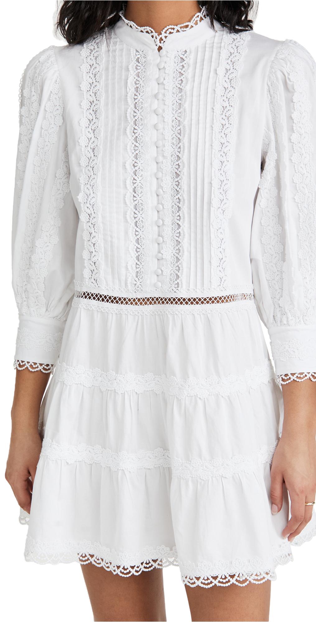 alice + olivia Clark Mandarin Collar Dress