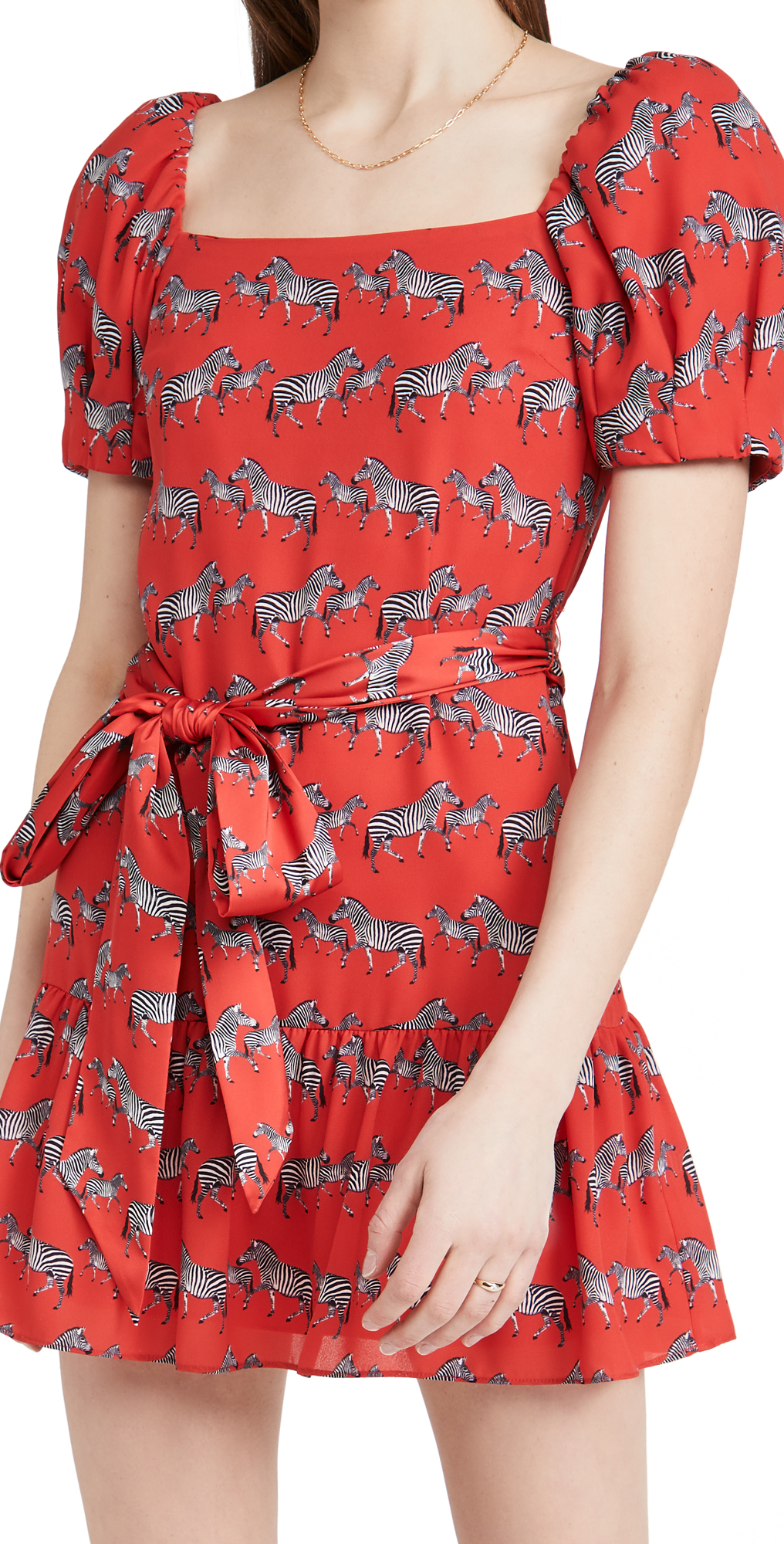 alice + olivia Collette Puff Sleeve Mini Dress