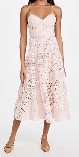 alice + olivia - Shanti 层褶连衣裙