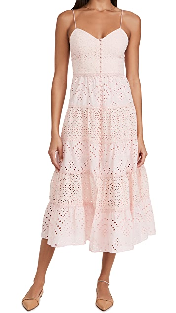 alice + olivia Shanti 层褶连衣裙