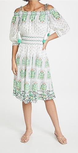 alice + olivia - Cade Off Shoulder Midi Dress