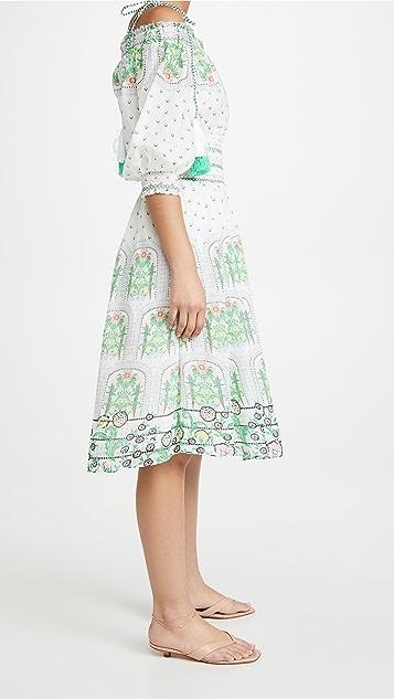 alice + olivia Cade 露肩中长连衣裙