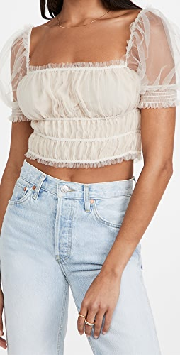 alice + olivia - Ashlyn Cropped Top