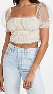 alice + olivia Ashlyn Cropped Top