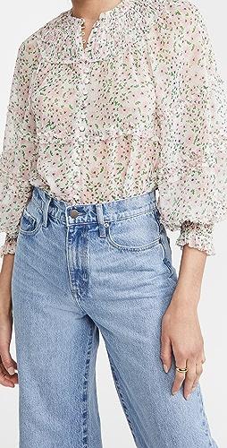 alice + olivia - Margery 荷叶边层褶女式衬衫