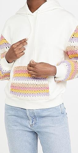 alice + olivia - Nisa Crochet Hoodie
