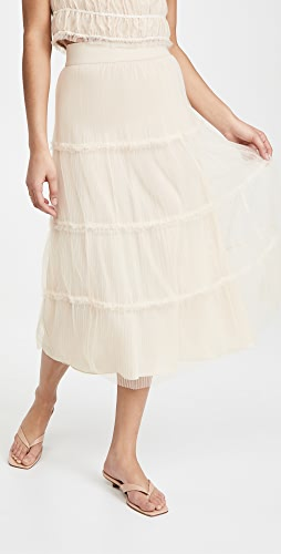 alice + olivia - Kenya Gathered Midi Skirt