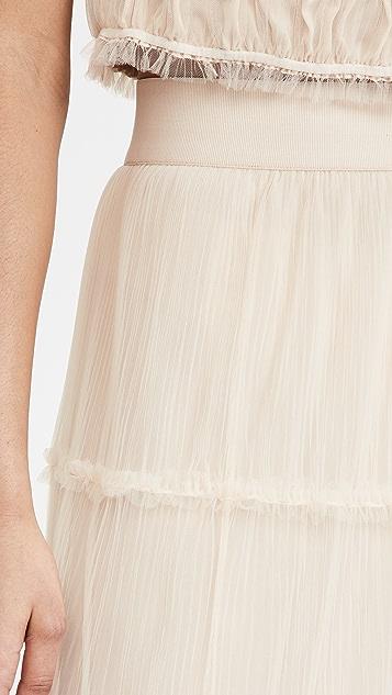 alice + olivia Kenya Gathered Midi Skirt