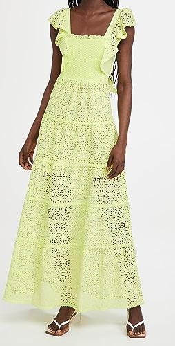 alice + olivia - Jules Tie Back Paneled Maxi Dress