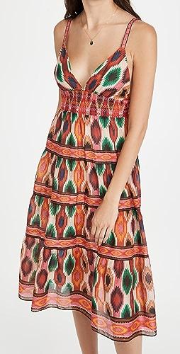 alice + olivia - Santina Lace Tiered Midi Dress