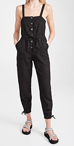 alice + olivia - Tiana Button Front Jumpsuit