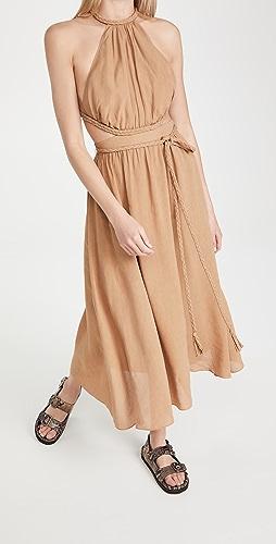 alice + olivia - Faith Braided Cutout Midi Dress