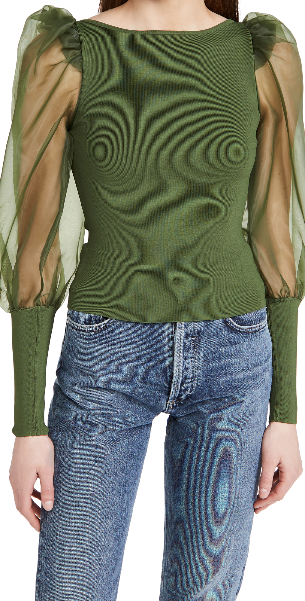 alice + olivia Abella Puff Sleeve Sweater