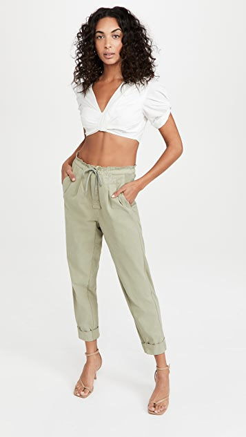 alice + olivia Liliana Cuff Paperbag Pants
