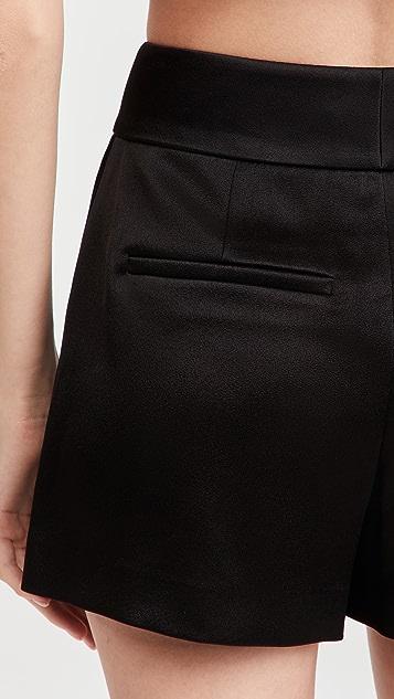 alice + olivia Mara Crossover Clean Shorts