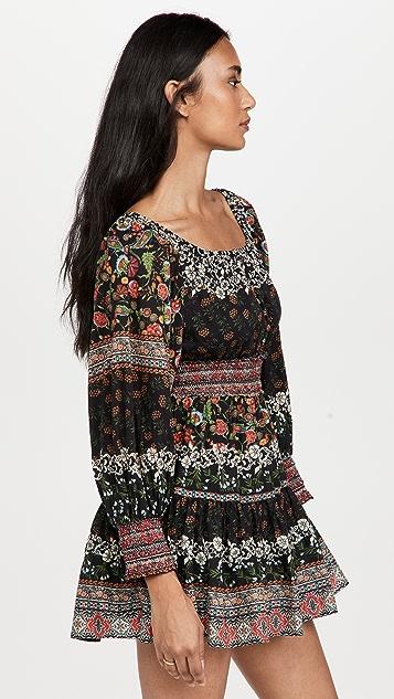 alice + olivia Clementina Tiered Mini Dress