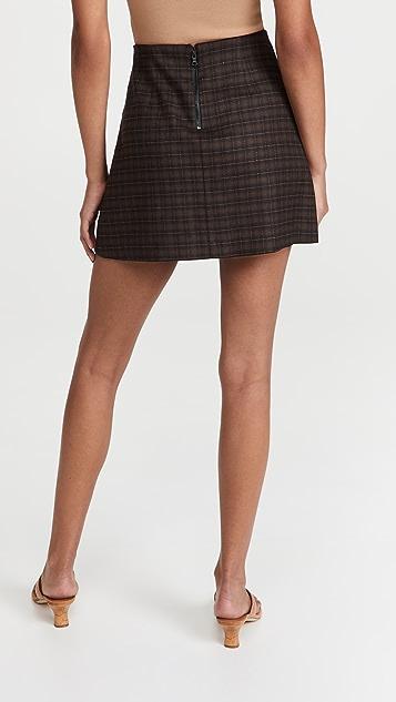 alice + olivia Semira 裥褶迷你半身裙