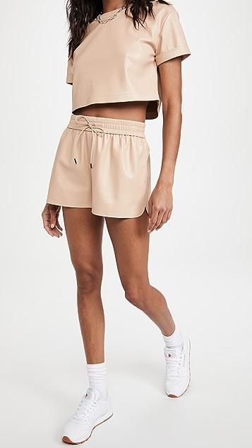 alice + olivia Ludlow Vegan Shorts