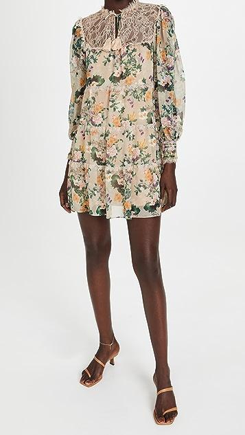 alice + olivia Marcie Ruffle Tiered Tunic Dress