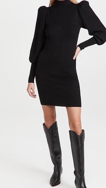 alice + olivia Caleb Puff Sleeve Mini Dress