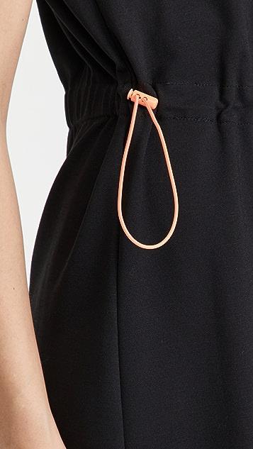 alice + olivia Erika 对扣腰部迷你连衣裙