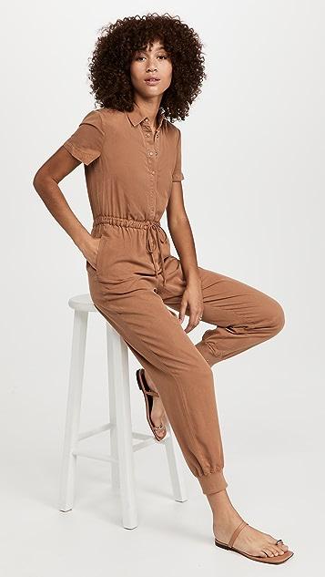 alice + olivia Xenia Collared Jumpsuit
